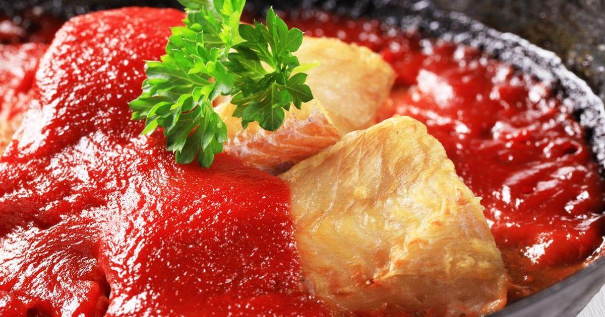 Фото Рыбное филе под томатным соусом