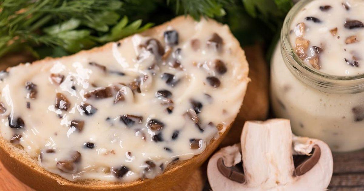 Фото Домашний плавленный сыр с грибами