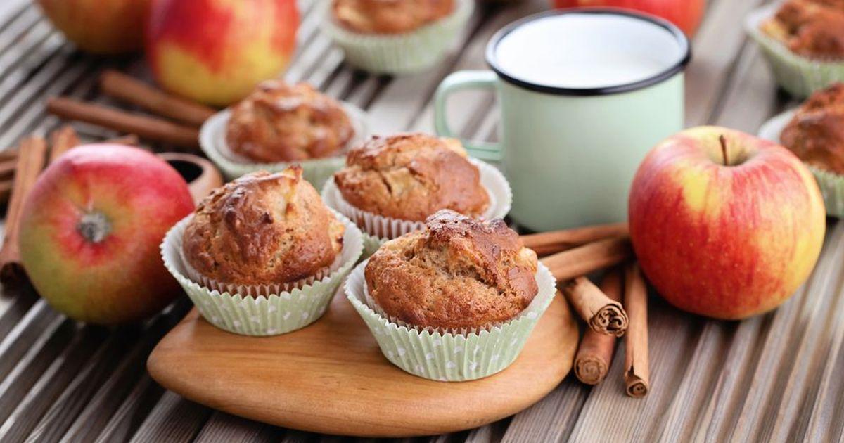 Фото Низкокалорийные овсяно - яблочные маффины - отличный вариант для тех, кто не хочет набирать лишних килограммов, но любит вкусно покушать! Рецепт прост, и приготовление не займет у вас много времени, а вот результат порадует, такие в меру сладкие в