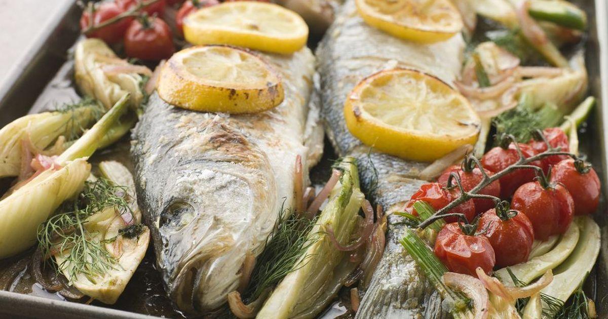 Фото Рыба, запеченная с овощами