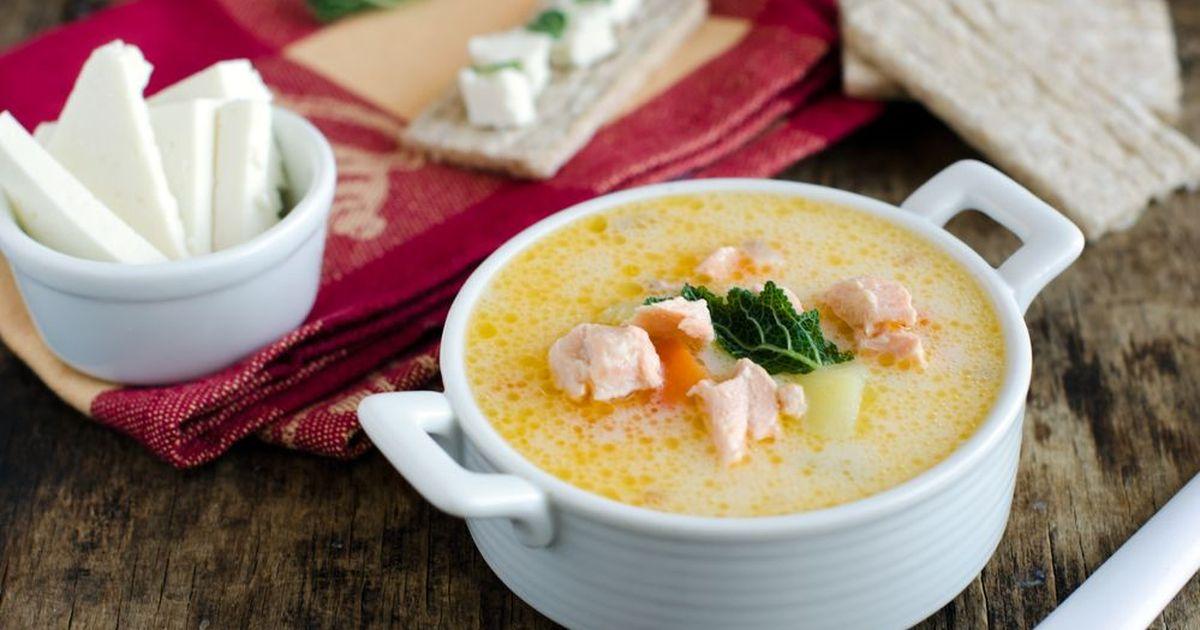 Фото Сырный рыбный суп