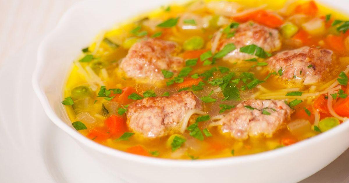 Фото Суп с мясными фрикадельками