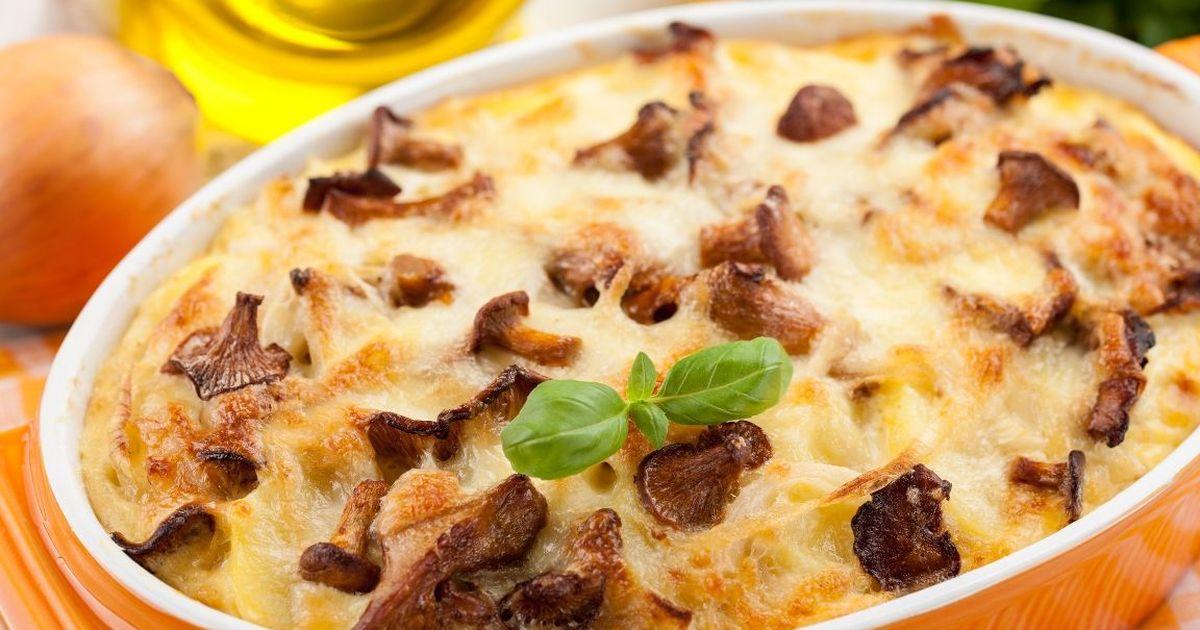 Фото Вкуснейшая картофельная запеканка с курицей и грибами