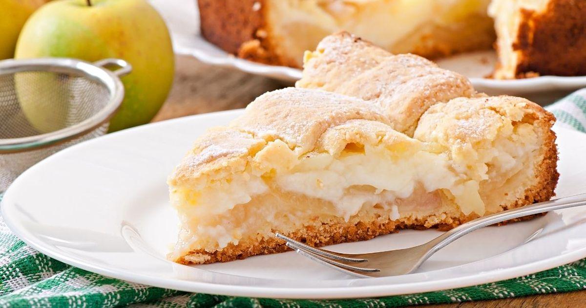 Фото Вкуснейший яблочный пирог с заварным кремом