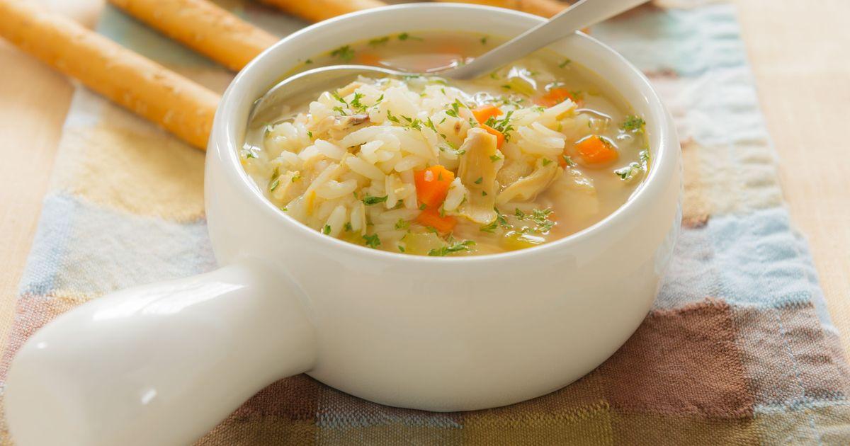 Фото Рисовый суп с курицей