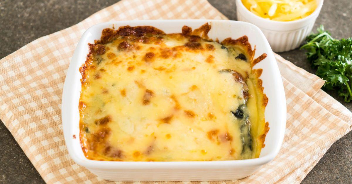 Фото Шпинат, запеченный с сыром