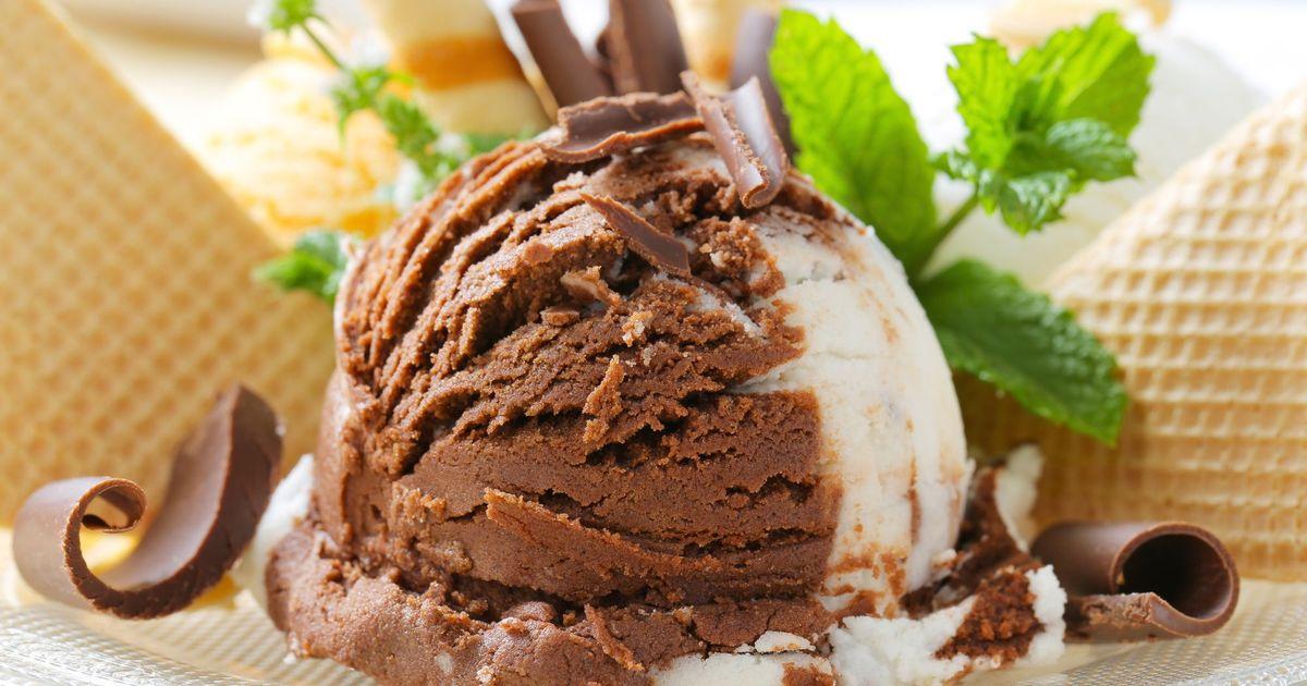 Фото Домашнее шоколадное мороженое