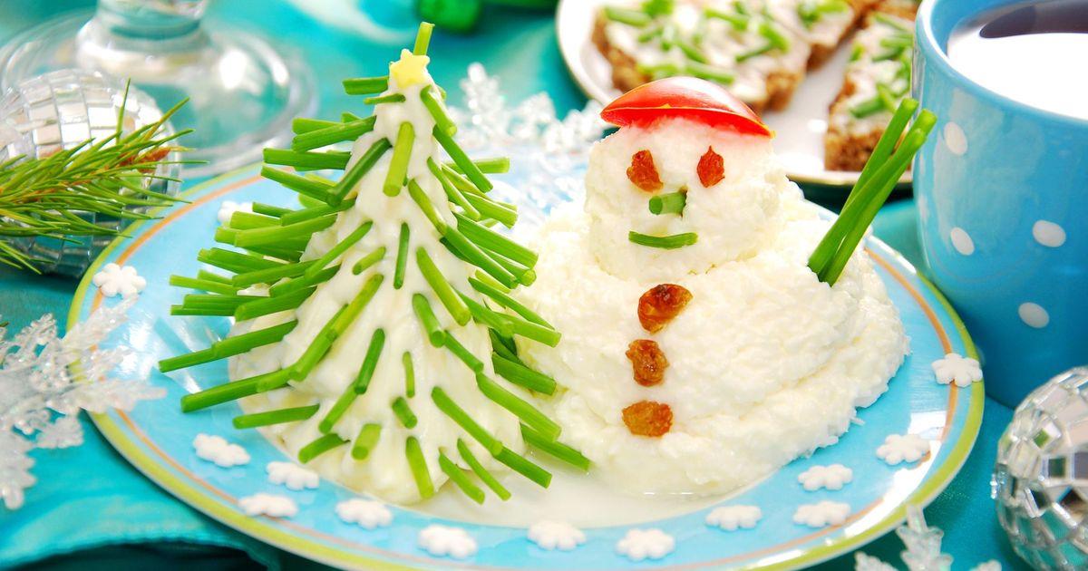 Фото Новогодний завтрак для ребенка из творога