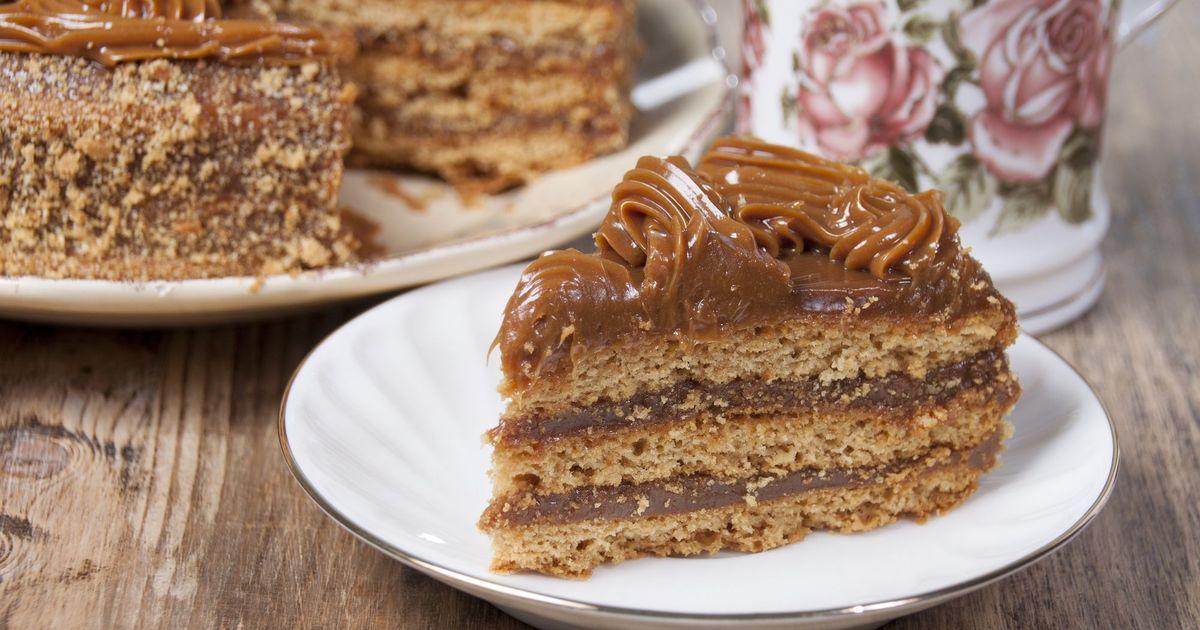 Фото Шоколадный торт со сгущенным молоком