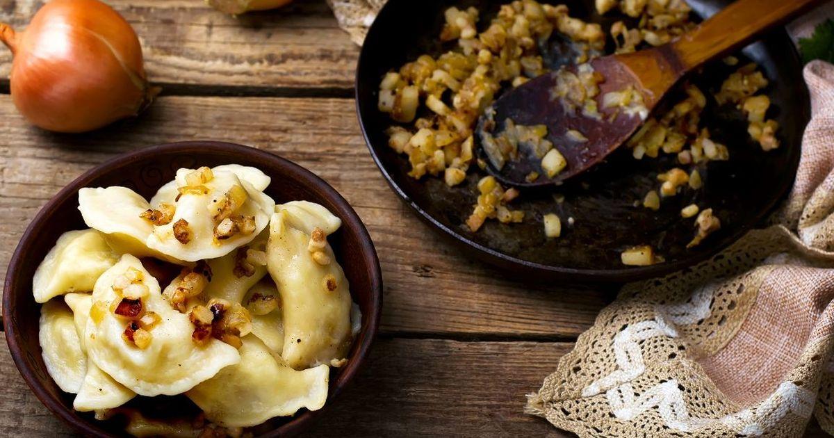 Фото Домашние вареники с картофелем и луком