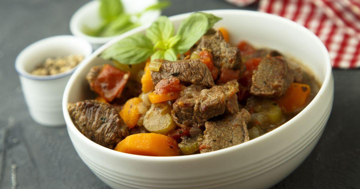 Фото Жаркое из говядины с овощами