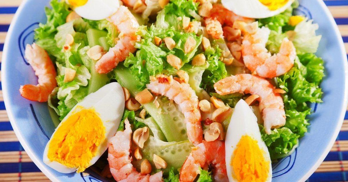 Фото Изумительно вкусный салат с креветками