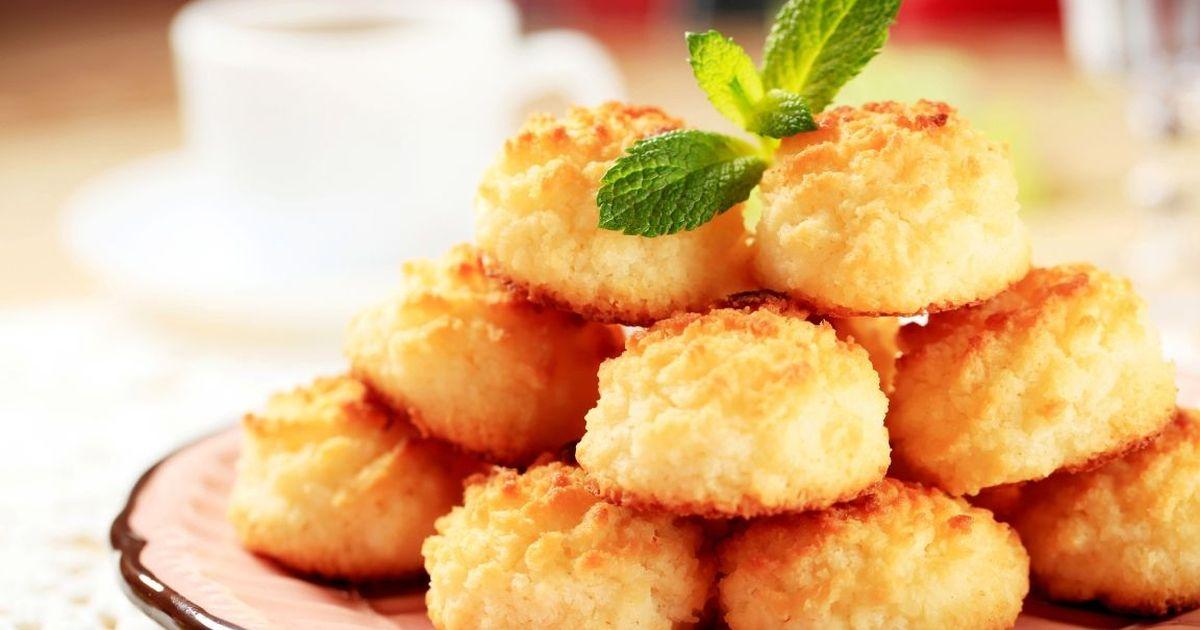 Фото Быстрое кокосовое печенье