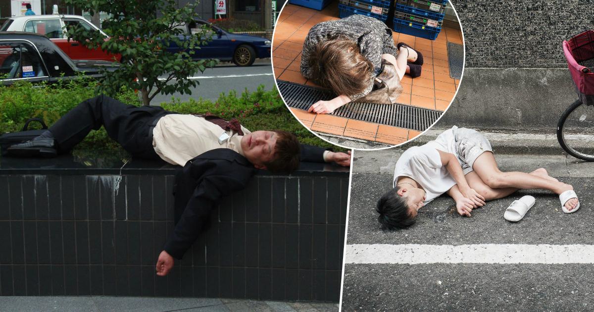 Фото Из офиса в запой: почему жителей Японии не смущают спящие на улице пьяные люди