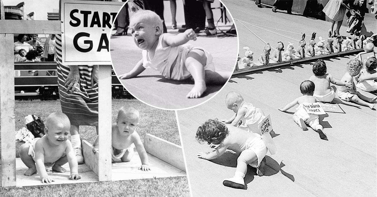 Фото Зачем в США в XX веке устраивали гонки младенцев в подгузниках