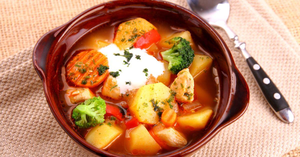 Фото Рагу из курицы и овощей