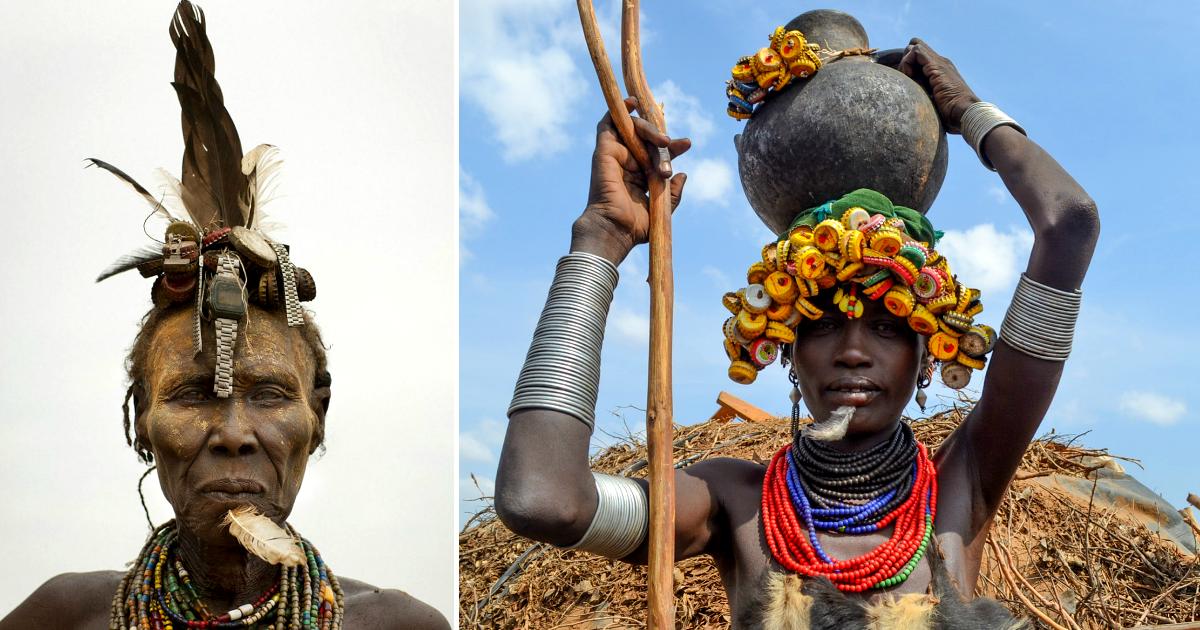 Фото Зачем племена долины Омо украшают свои тела мусором