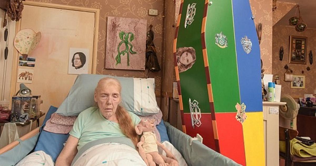 """Фото Фанатка Гарри Поттера, умирающая от онкологии, организовала """"волшебные"""" похороны"""