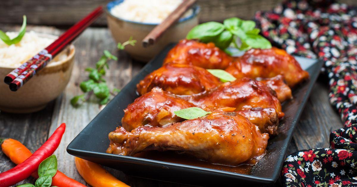 Фото Куриные голени в кисло-сладком соусе