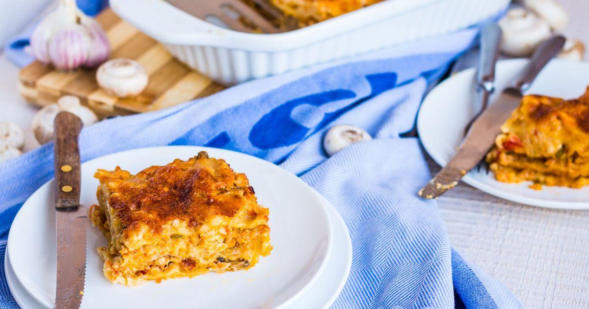 Фото Лазанья с грибами с куриным филе