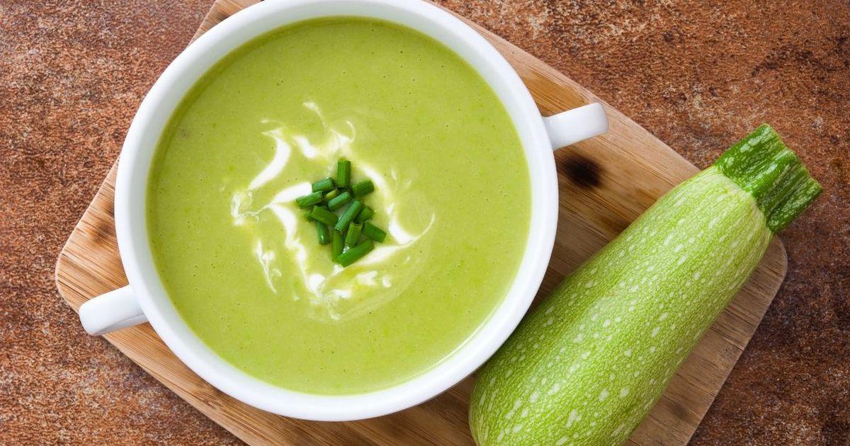 Фото Сливочный суп-пюре из кабачка