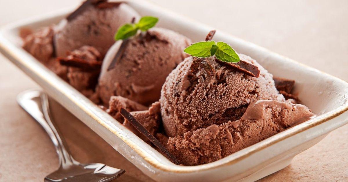 Фото Домашнее мороженое из какао и банана