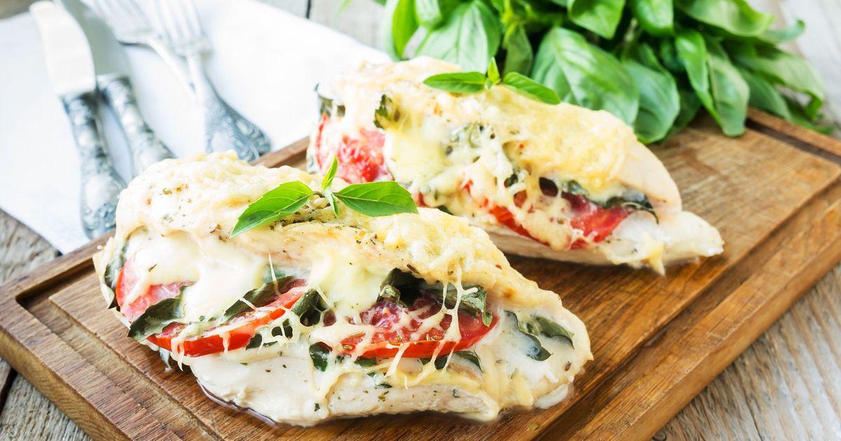 Фото Фаршированные куриные грудки с овощами