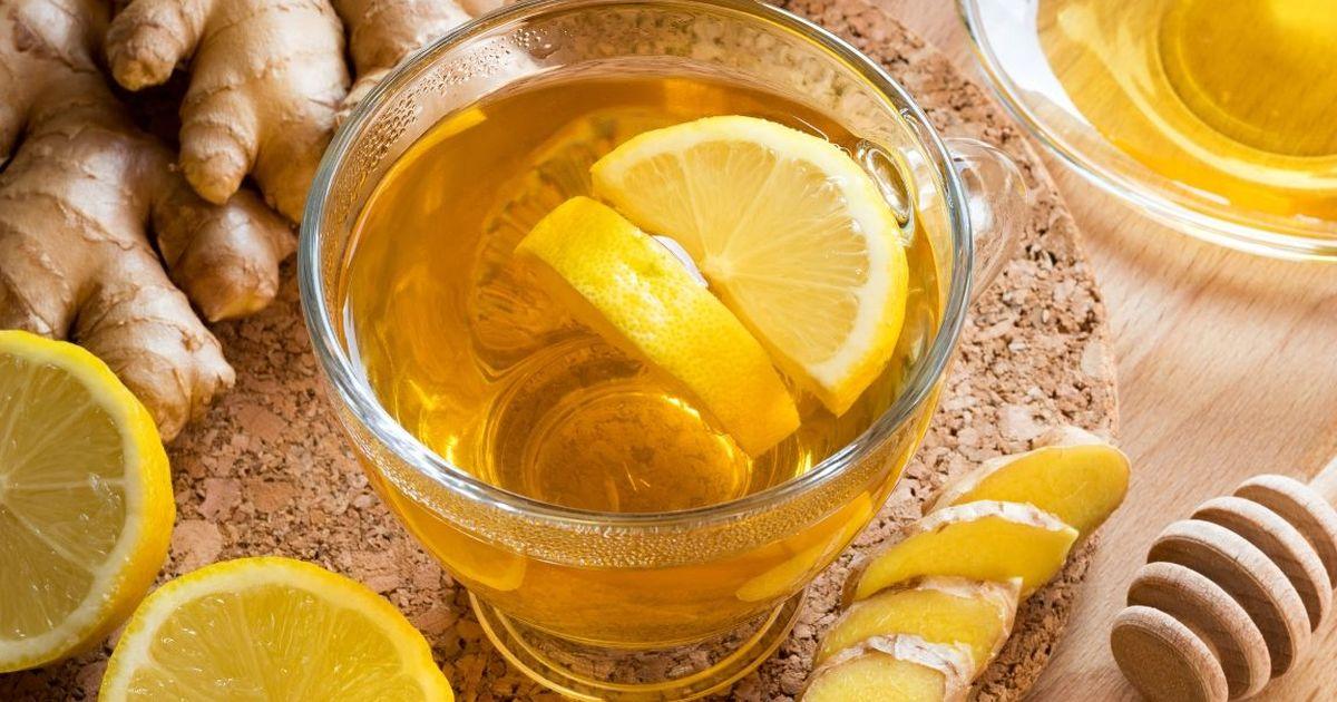 Фото Имбирный чай с лимоном и медом