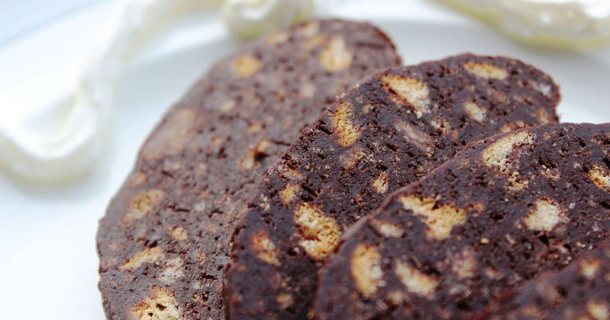 """Фото Шоколадная колбаска """"салями"""""""