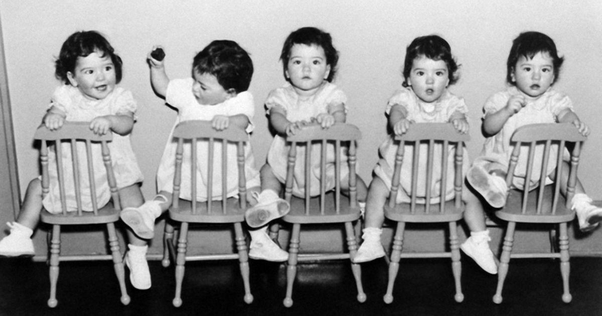 Фото Пятеро близняшек, с рождения принесшие богатство государству