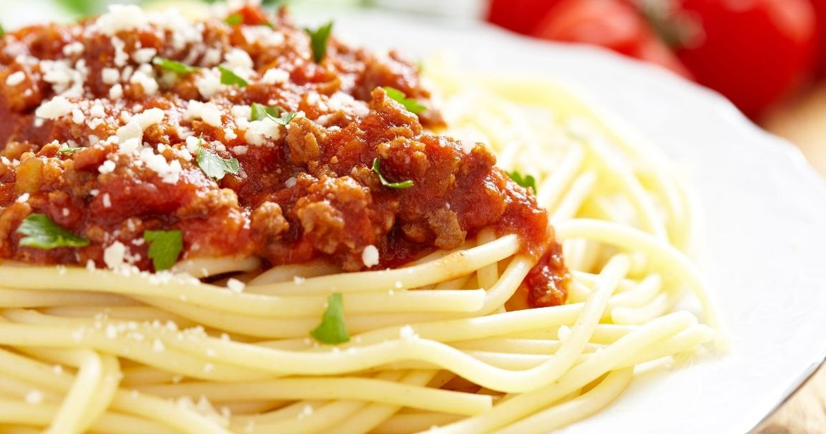 Фото Традиционные спагетти болоньезе