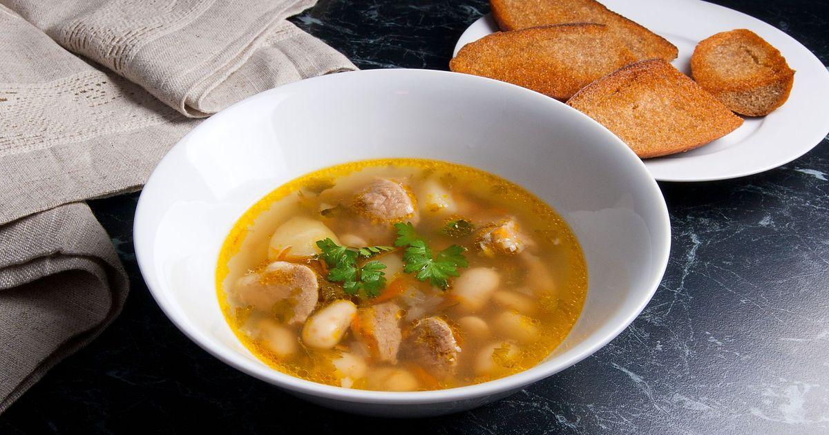 Фото Суп со свининой и фасолью