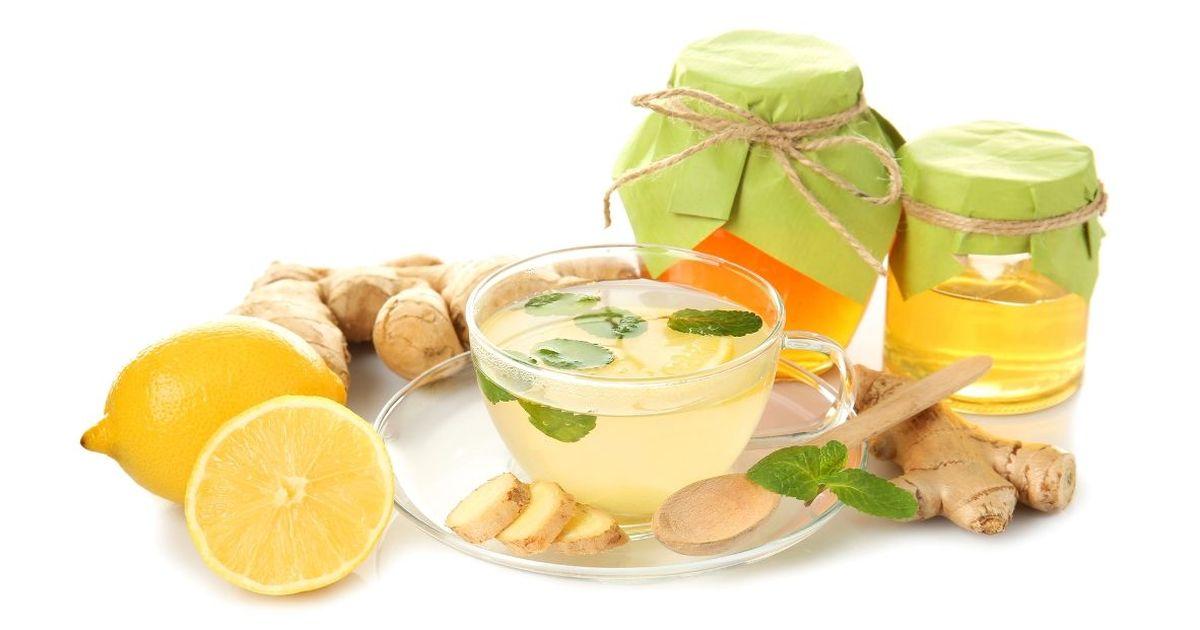 Фото Имбирный чай с мятой и специями