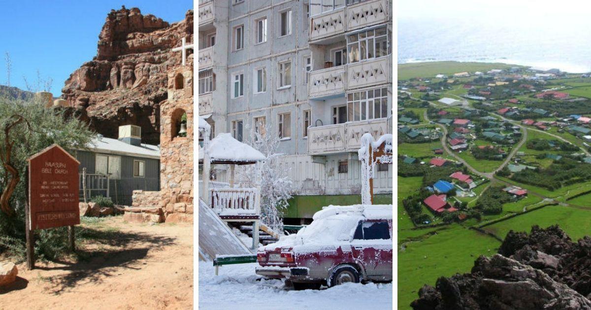 Фото 10 самых изолированных и труднодоступных населенных пунктов на планете