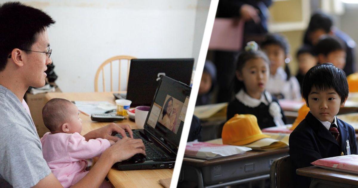 Фото Как японским детям прививают любовь к работе
