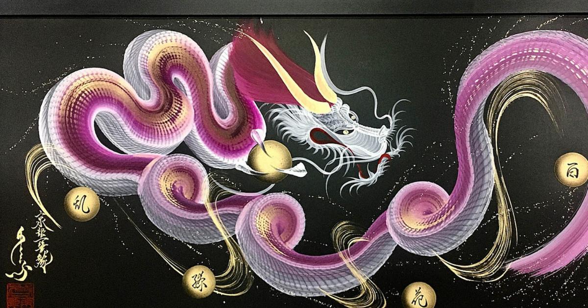 Фото Взмах кисти – дракон. Как японский художник рисует одним лишь движением?