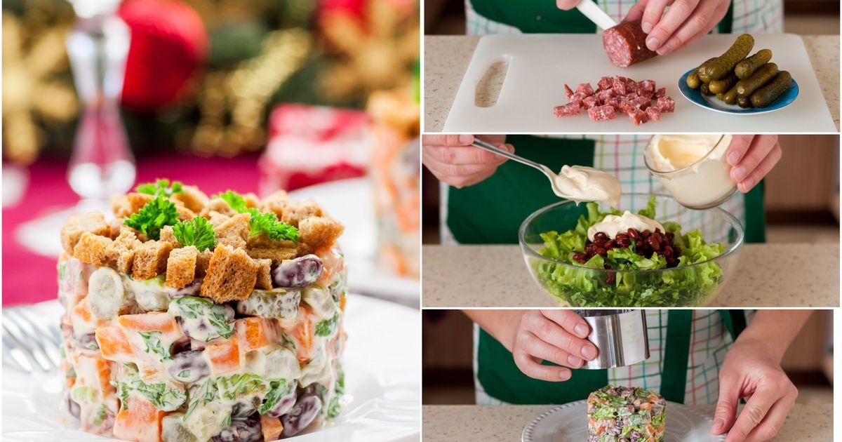 Фото Немецкий рождественский салат