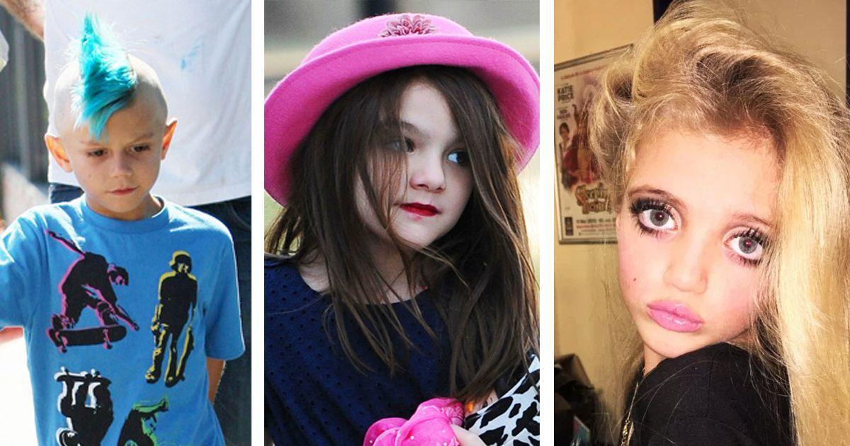 Фото Дети знаменитостей, которые слишком рано стали краситься