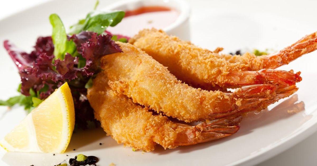 Фото Аппетитные креветки в кляре