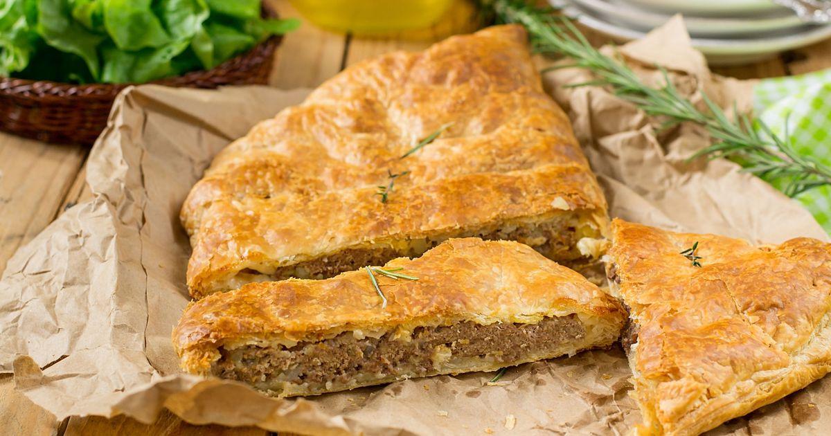Фото Быстрый мясной пирог