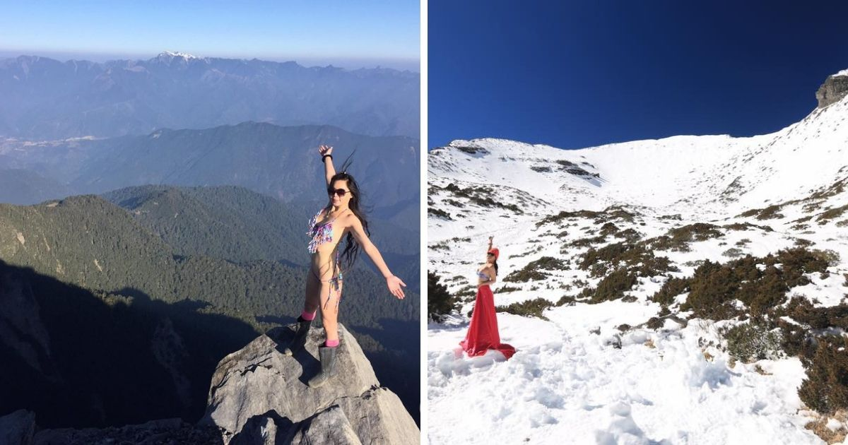 """Фото Знаменитая """"девушка в бикини"""" умерла от холода в горах"""