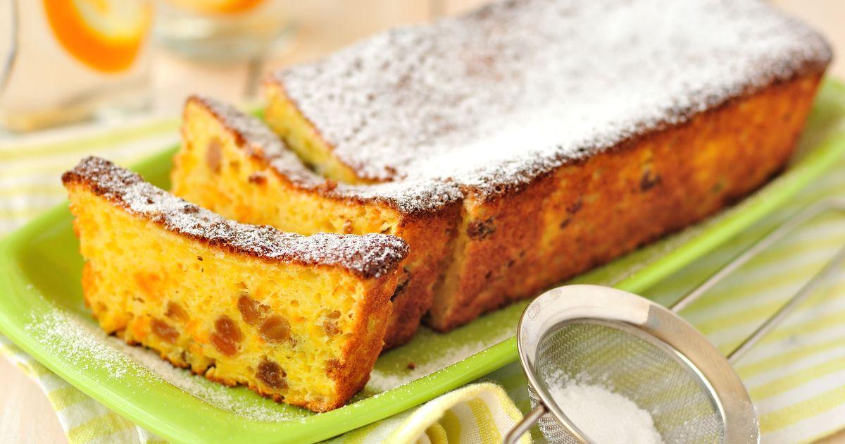 Фото Апельсиновый кекс с изюмом