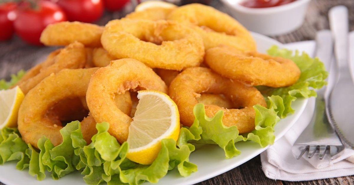 Фото Аппетитные кальмары в кляре