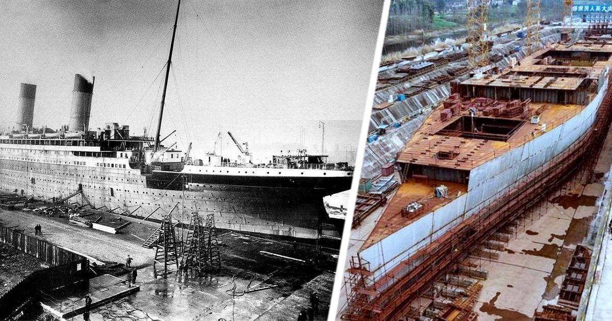 """Фото Новый """"Титаник"""", строящийся в Китае, готовят к спуску на воду"""