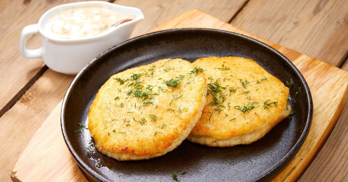 Фото Новый рецепт приготовления картофельных оладушек с сыром