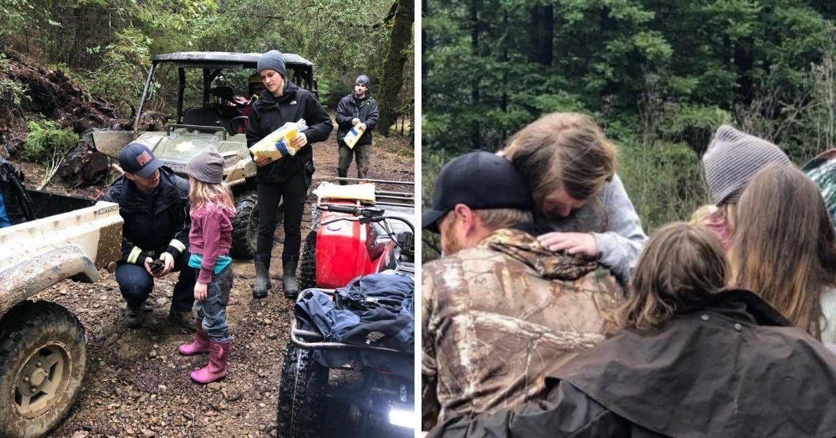 Фото 44 часа в лесу: спасатели нашли двух маленьких сестер по следу из фантиков