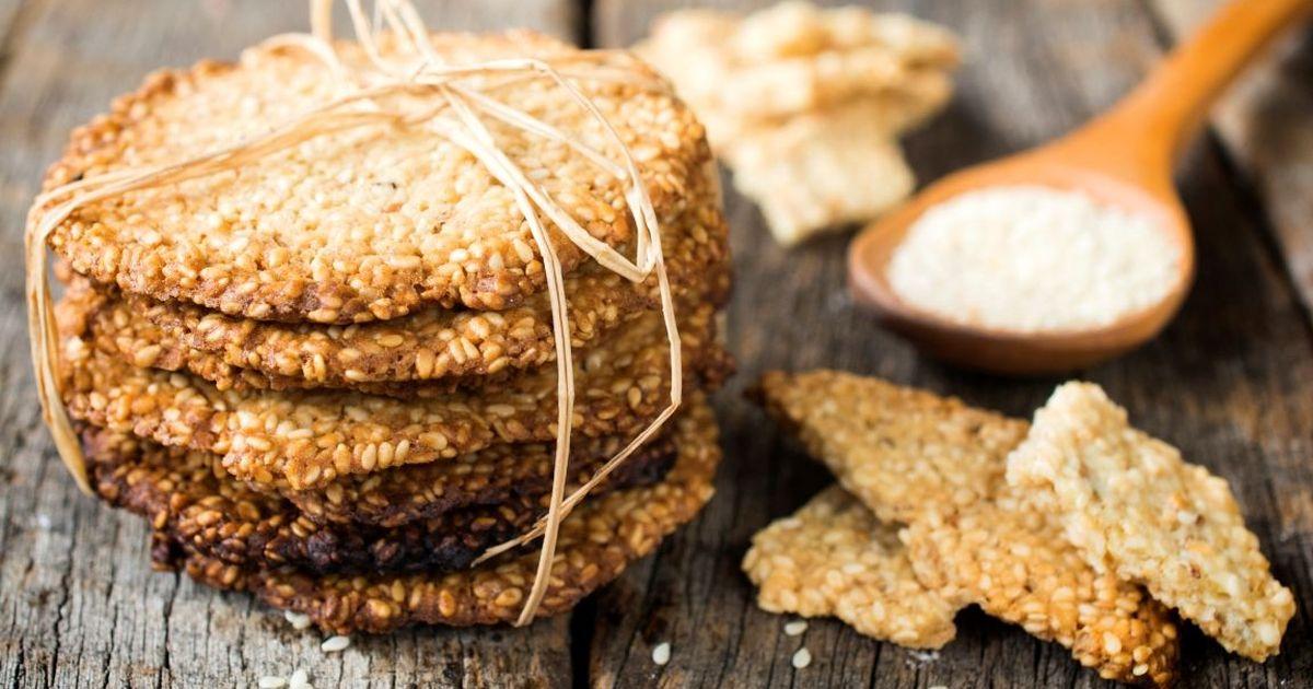 Фото Домашнее печенье с кунжутом