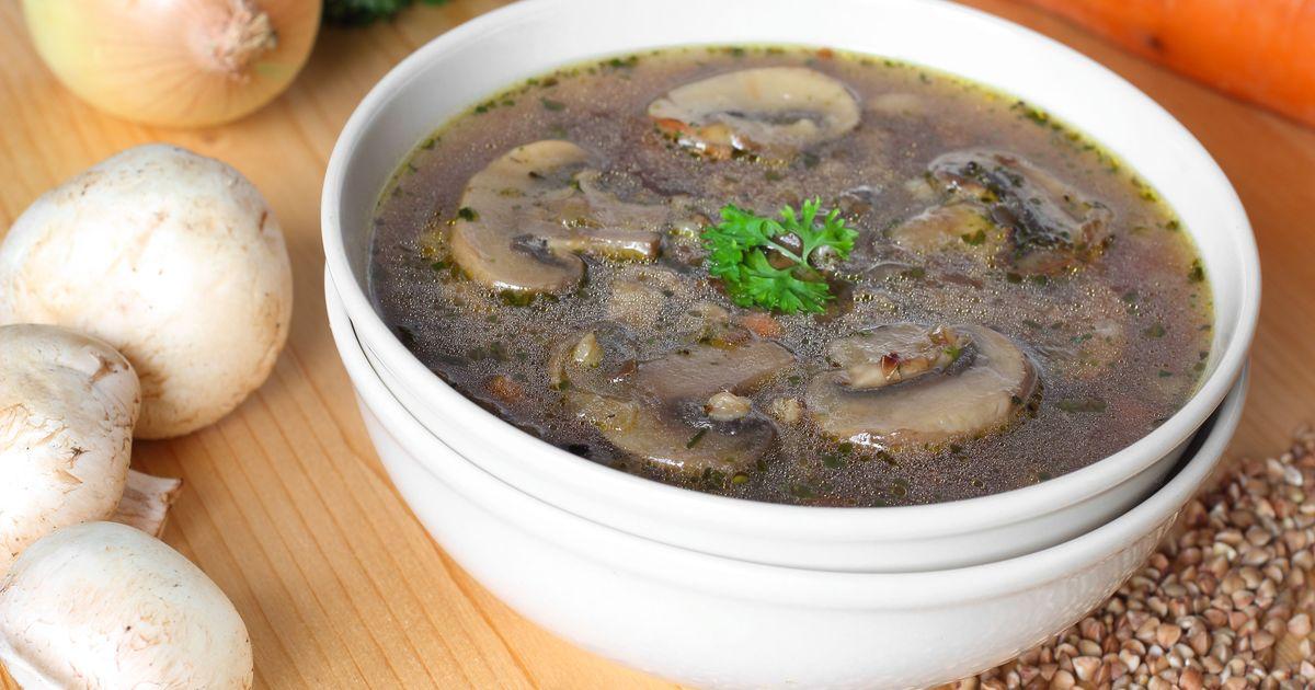 Фото Постный гречневый суп