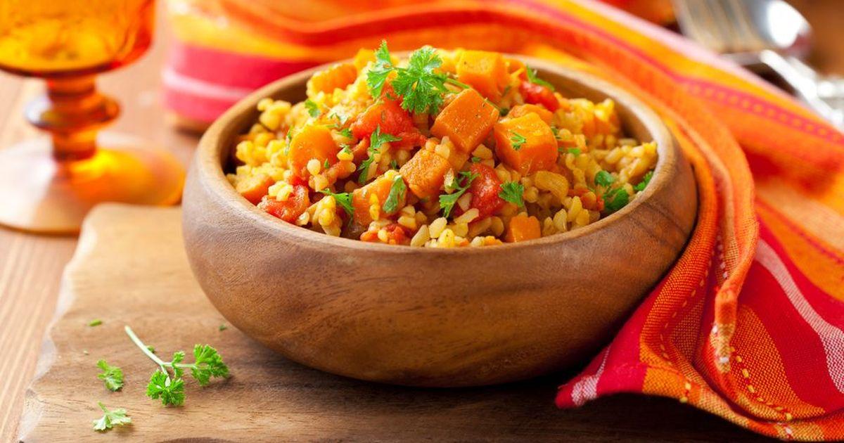Фото Булгур с мясом и овощами