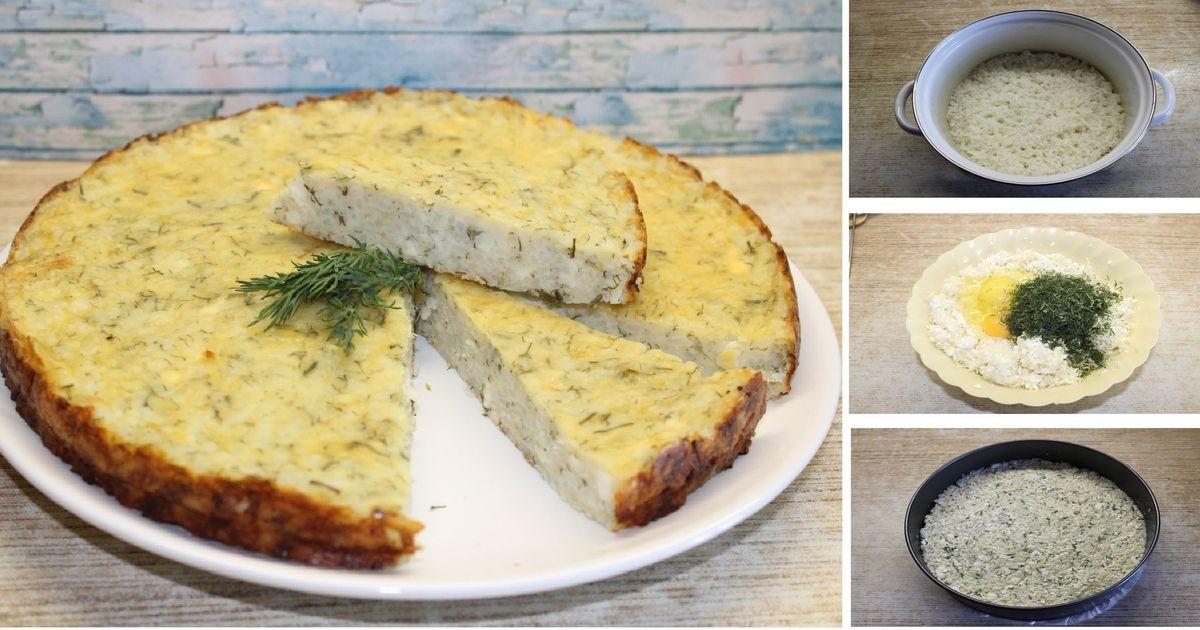 Фото Рисовая лепешка с творогом и зеленью: пошаговый фото рецепт